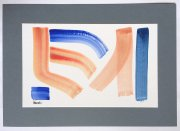 """Kunstwerk Aquarell \""""Wasser und Land\"""""""