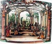 Barocke Guckkastenkrippe - Der Tempel