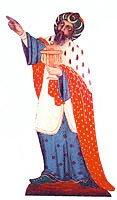 Ausschneidekrippe nach den Garstner Bretterfiguren