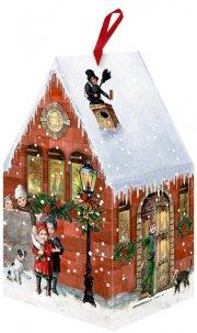 24 Nostalgische Adventskalender-Häuschen