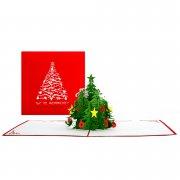 """Faltkrippenkarte \""""Weihnachtsbaum\"""""""