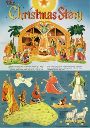 Shackman Papierkrippe 1995 - Christmas Story