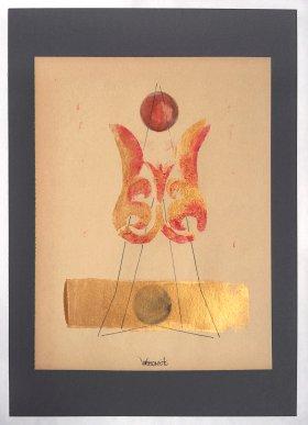 """Kunstwerk Schablonendruck \""""Akanthus-Variation 2\"""""""