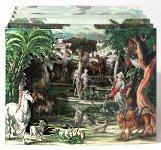 Barocke Guckkastenkrippe - Paradies