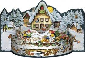 Schlittenfahrt - Adventskalender