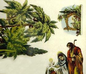 Ausschneidekrippe Historische Weihnacht