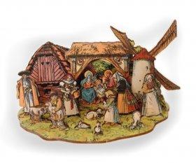 3D-Weihnachtskrippe Altböhmisch aus Holz