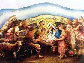 Weihnachts-Faltkrippe Fünf Engeli
